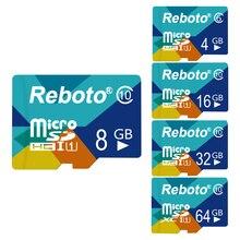 Reboto Новый 16 ГБ карты памяти Micro SD Card 16 ГБ зеленый карты памяти Полный Ёмкость гарантировано гарантия 1 год