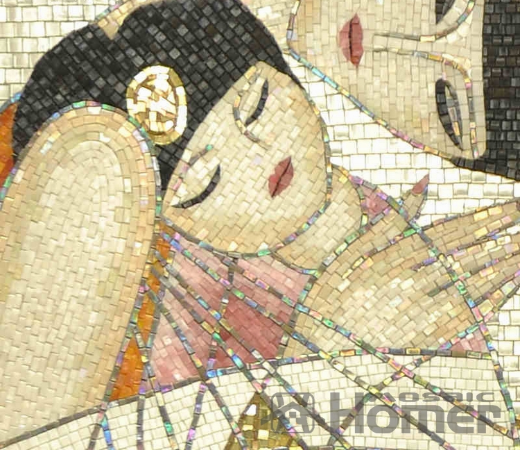 express free shipping, oil painting look glass mosaic tiles hand ...