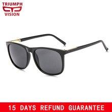 7f443aef35 TRIUMPH VISION Square Sunglasses for Men Black Plastic Sun Glasses for Men  UV400 Protection Shades Oculos de sol Male Brand 2018