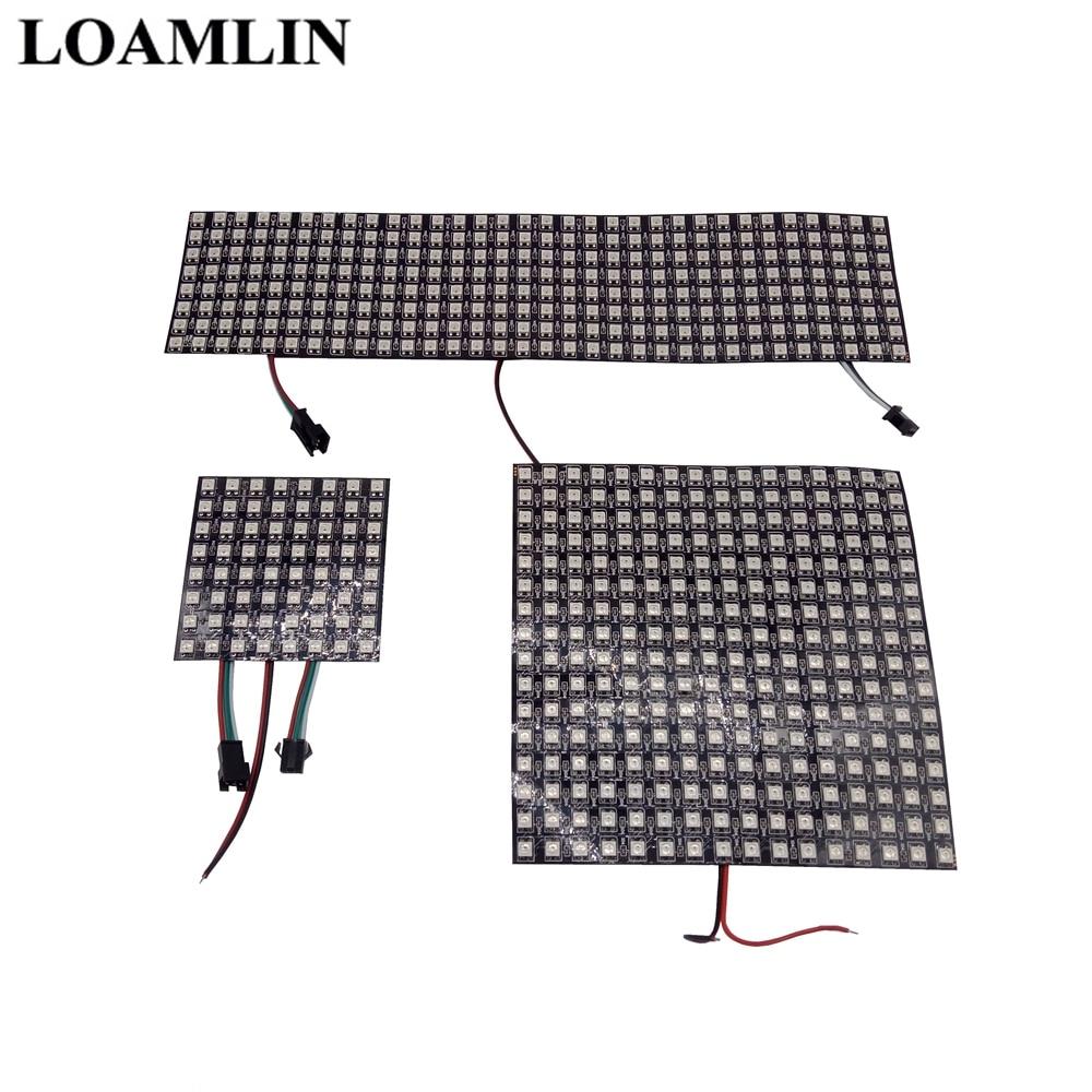 цена на WS2812B Digital Flexible Led Panel 8*8 16*16 8*32 Pxiels,WS2812 Individually Addressable RGB Full Dream Color DC5V