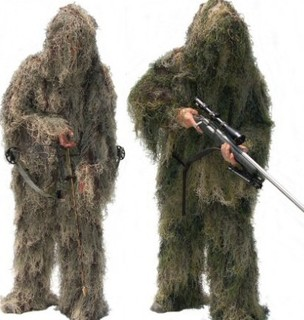 CAMO GHILLIE Hunting Clothing camouflage shade cloth TACTICAL CAMOUFLAGE SUIT 4 Grass Type Camouflage Shade Cloth Ghillie Suit mens 3d waterproof windproof sedge reed hunting clothes in tree camo tactical ghillie suit sniper camouflage clothing