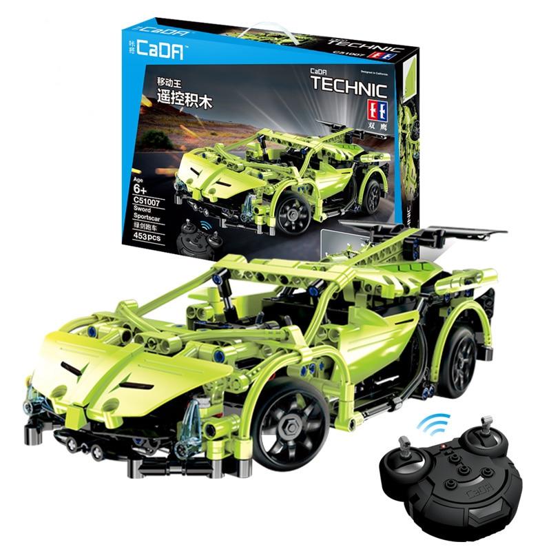 453 pièces Technic série RC voiture modèle blocs de construction télécommandé voitures de course de cicatrice de sport éclairer briques jouet pour enfants fit Legoing