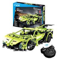 453pcs Technic Series RC Car Building Blocks Sets Remote Control Sportscar Racer Cars Enlighten Bricks Toys Compatible legoingly