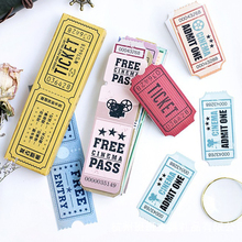30PCS Original bookmarks for books  retro ticket stub paper bookmark note card bookmark paper bookmark student stationery gift