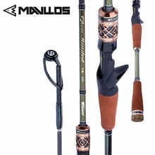 цены Mavllos Ultralight Carbon Fiber Fishing Rod M/MH 2 Pole Tips 2.13M Lure Weight 8-25g Action Fast Saltwater Carp Spinning Rod