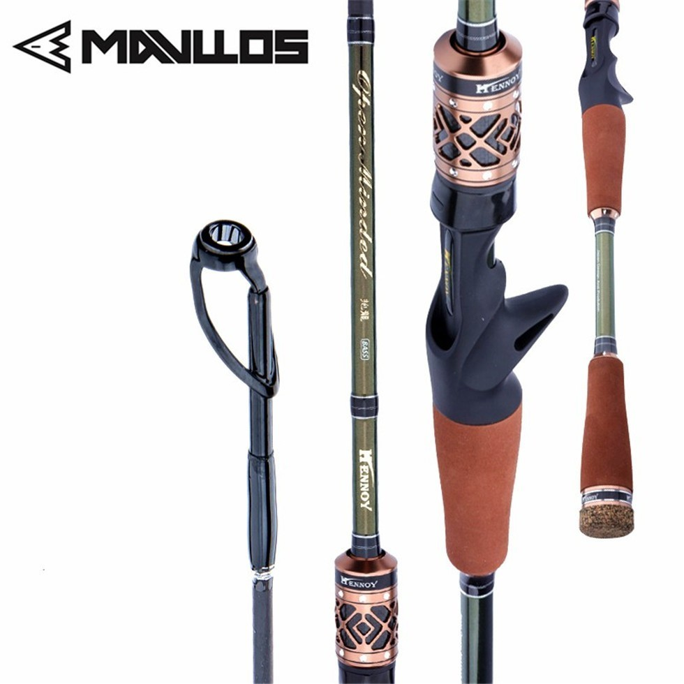 mavllos ultraleve vara de pesca de fibra de carbono m mh 2 pontas de polo 2
