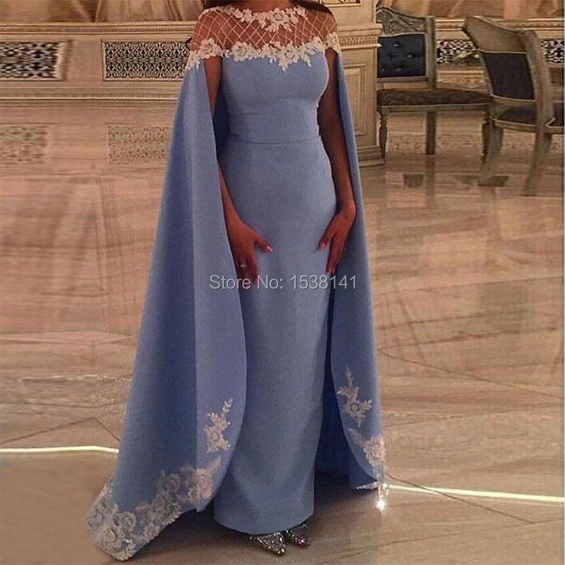 Beaded Neck Mermaid Kaftans Robe De Soiree 2017 Elegant Appliques Formal Dress Evening Dresses Abiye Vestido
