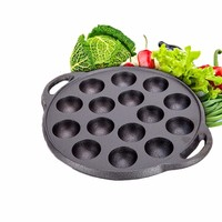 PFDIYF 15 Holes Non Stick Takoyaki Grill Pan Kitchen Cooking Baking Mold Octopus Ball Maker With