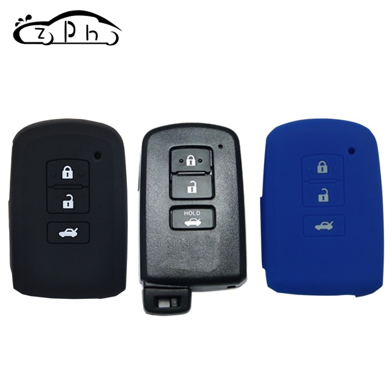 For Toyota Camry Corolla Avalon Rav4 Land Cruiser Car Remote Key Holder Protector 3 Button Silicone Key Fob Shell Cover Case Hot