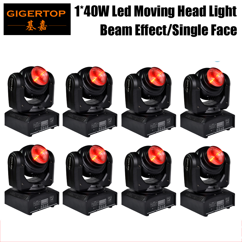 Free Shipping (8/Lot) High Quality 40W Mini Led Moving Head Light RGBW Led Spot Beam Mini Moving Head Stage Show Mini DJ Light free shipping 2pcs lot led moving head light edison led 3w aluminum hose flexible star hotel retrofit chrome finish