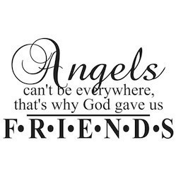 wall sticker angels cant be everywhere friends friendship wall sticker decal quote