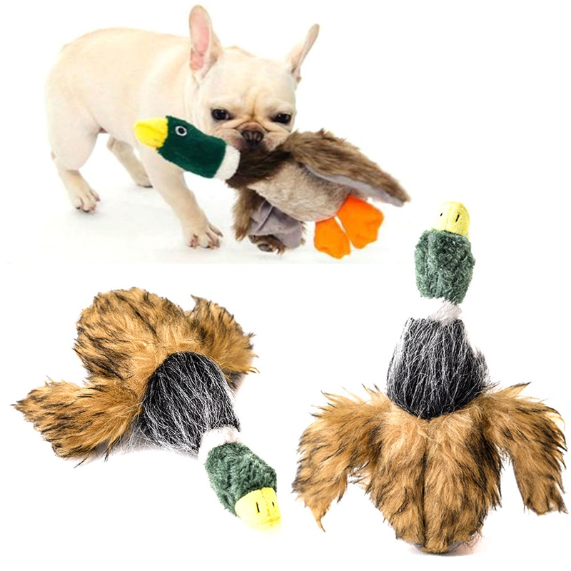 2018 New 1Pcs Classic Dog Toys Stuffed Squeaking Duck Dog Toy Plush Puppy Honking Duck For Dogs Pet Chew Squeaker Squeaky Toy