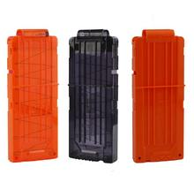 3colors 12 Reload Clip Magazines Round Darts Replacement Plastic Magazines Toy Gun Soft Bullet Clip For