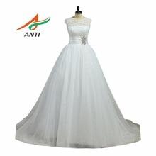 ANTI Vintage Ball Gown Wedding Dress 2017 Court Train Cloud Princess Bride Dress Bridal Gown Plus Size Vestido De Noiva De Renda