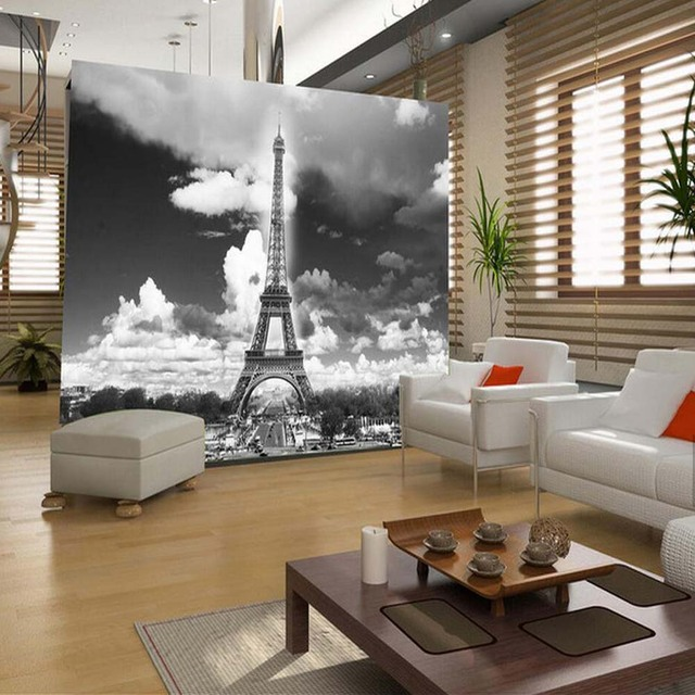 France Eiffel Tower Wall Mural HD Printed Wallpaper Living