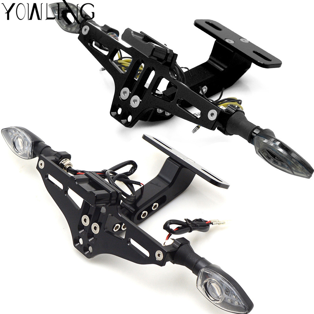Image 3 - CNC Motorcycle License Plate Bracket Holder For Honda CBR300R CB300F CBR500R CB500F CB500X CBR250R MSX125 Grom-in Covers & Ornamental Mouldings from Automobiles & Motorcycles