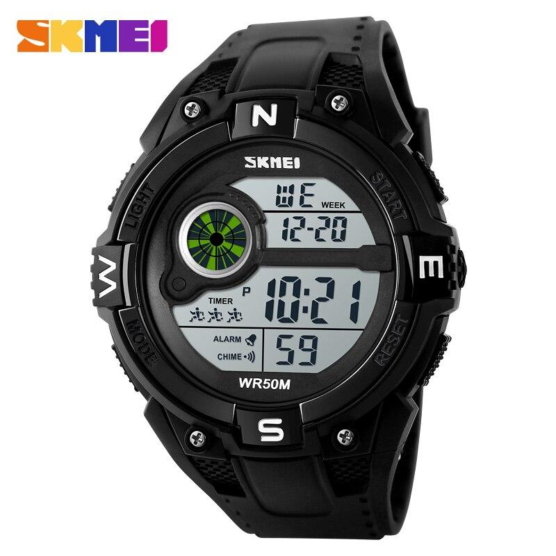 Skmei Marke Led Digitale Uhr Männer Sport Uhren Männlichen Uhren Mode Herren Uhren Armbanduhren Wasserdicht Relogio Masculino 1279