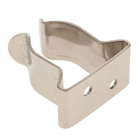1 stainless steel 1 Pcs Spring Boat Hook Holder Clip 304 Stainless Steel For Boat Yacht Canoe Rigging Rope Chain Leash Cable Etc 5/8?-1? Tube (1)