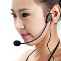 Hot!! New 3.5mm wired Educational lectures Headset Microphone Headset Amplifiers 3.5 Interface Wholesale Price Jan11