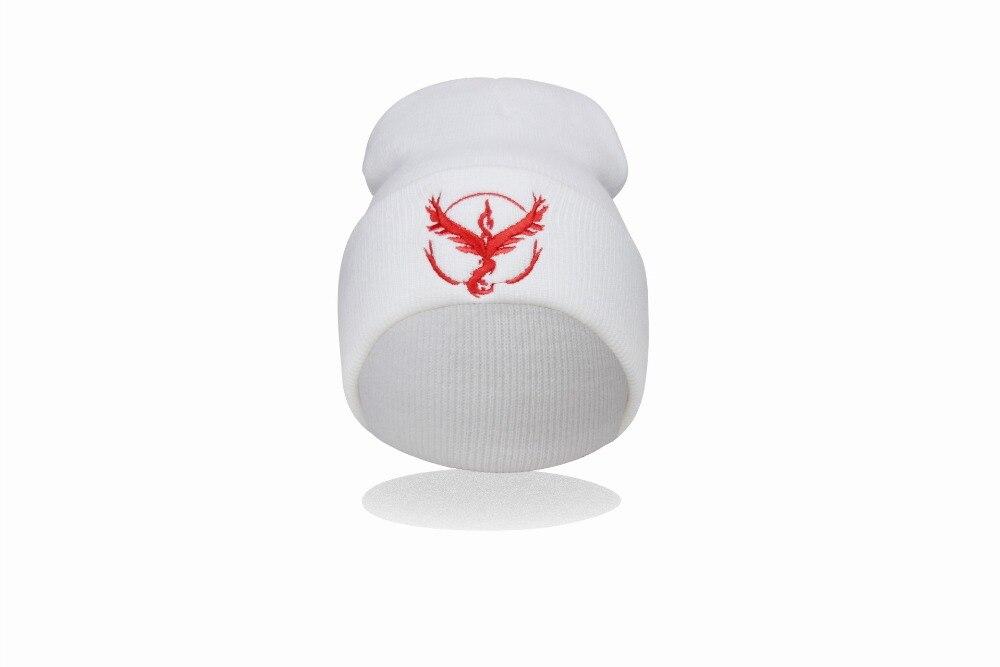 Gorro Touca Com Símbolo Times Pokémon Go Equipe Vermelha Valor