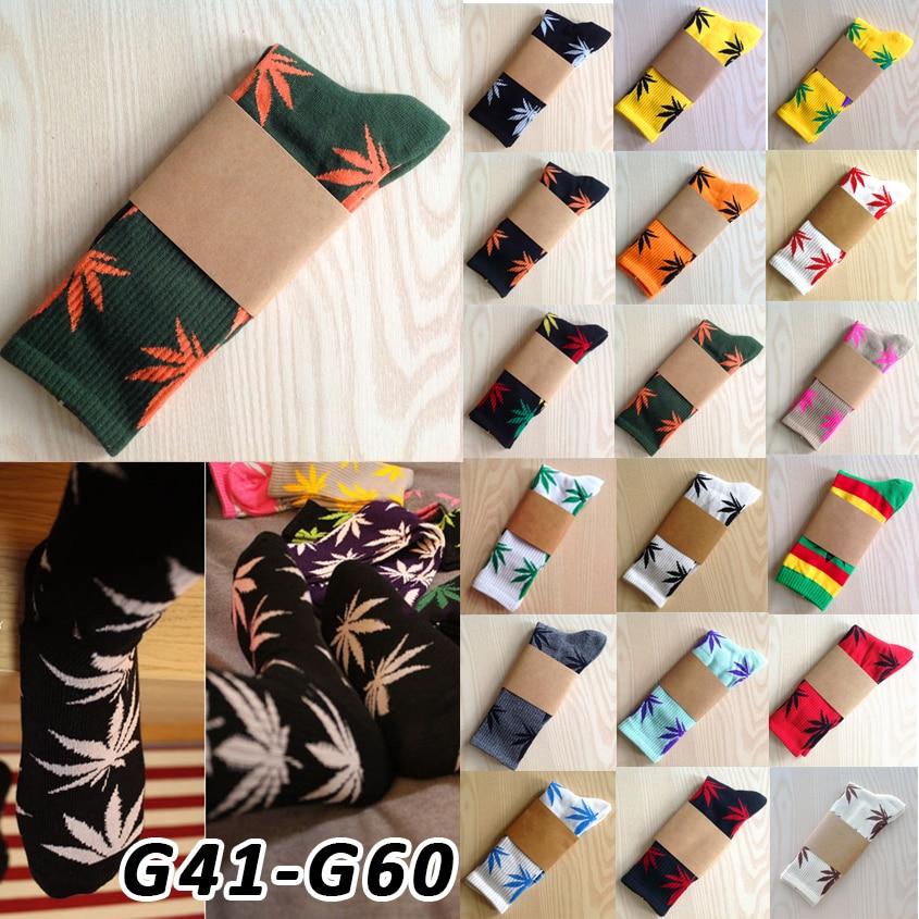 Calcetines Weed Marijuana Winter Socks Plantlife Meias Masculinas Leaf Printed Pattern Basketball Cotton Socks Women's Socks