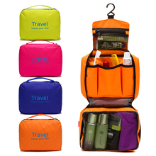 Waterproof Travel Bag Nylon Portable Hanging Storage Bags Women Makeup Comestic Organizer Toiletry