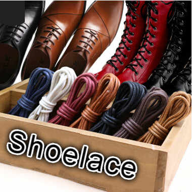 Водонепроницаемый кожаная обувь со шнуровкой круглый Форма тонкий трос белый, черный и розовый цвета синий фиолетовый коричневый шнурки для обуви