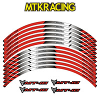 MTKRACING3 color for YAMAHA MT 10 motorcycle wheel decals stickers rim stripes MT 10 motorbike silver mt10