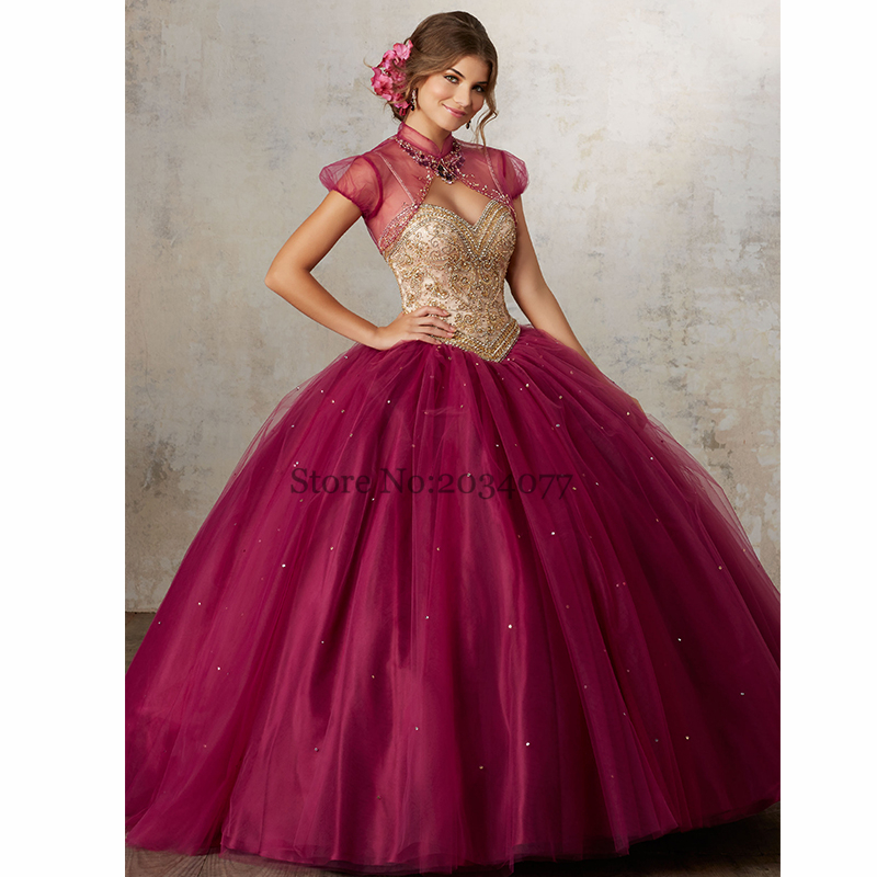 Vestidos de 15 Sweet Sixteen Dresses Rhinestones Two Piece ...