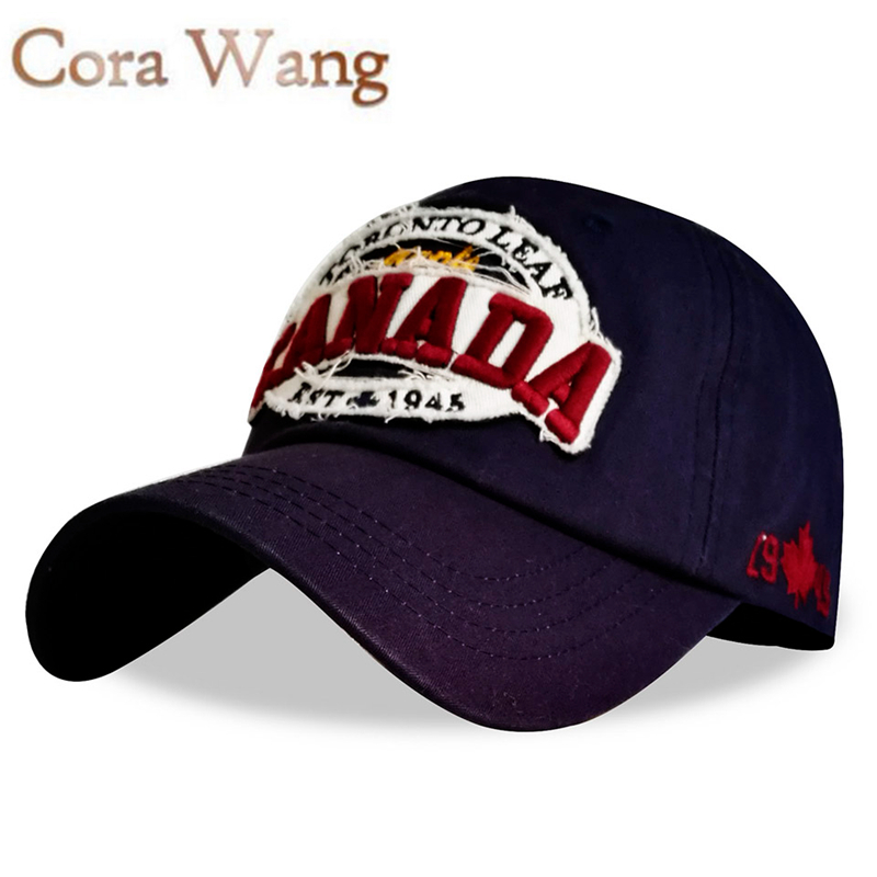 Cora Wang 2017 CANADA Baseball Caps Women Patch Dad Hat for Men Letters embroidered snapback cap Black cap Unisex cotton Leisure voron 2017 cotton gorras canada baseball cap flag of canada hat snapback adjustable mens baseball caps brand snapback hat