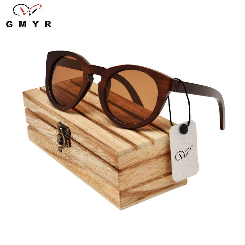 Black Round wooden sunglasses unisex 5 Lenses Colours Polarized Wooden constructor Sun Glasses Handmade Madeira Sunglasses