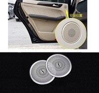 Arka Kapı Hoparlör Kapağı Krom Çerçeve Trim Mercedes Benz W166 ML X166 GL Class için 2013 +
