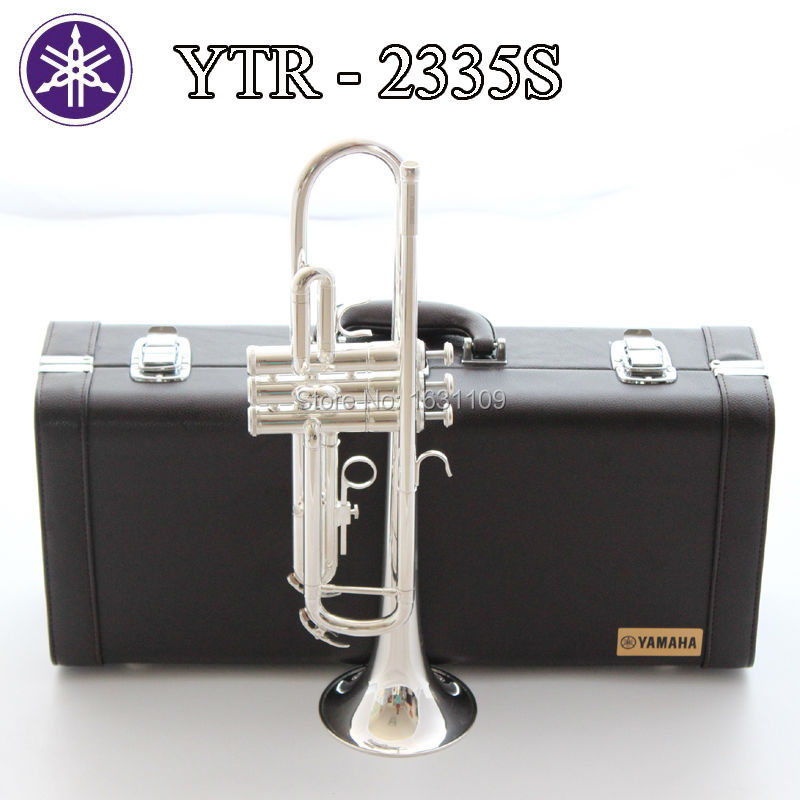 Brand New Brass Japan Trumpet ytr-2335s Bb Silver Plated Trompeta Profissional Instrumentos Case Mouthpiece Leather Box  brand new bach brass trumpet lt190gs 77 bb silver plated gold key trompeta profissional instrumentos case mouthpiece