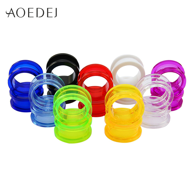1.6-25mm Acrylic Ear Plugs And Tunnels Ear Gauges Piercing Expander Ear Piercing Tunnel 8mm Stretchers Ear Plugs Tunnels Mandala