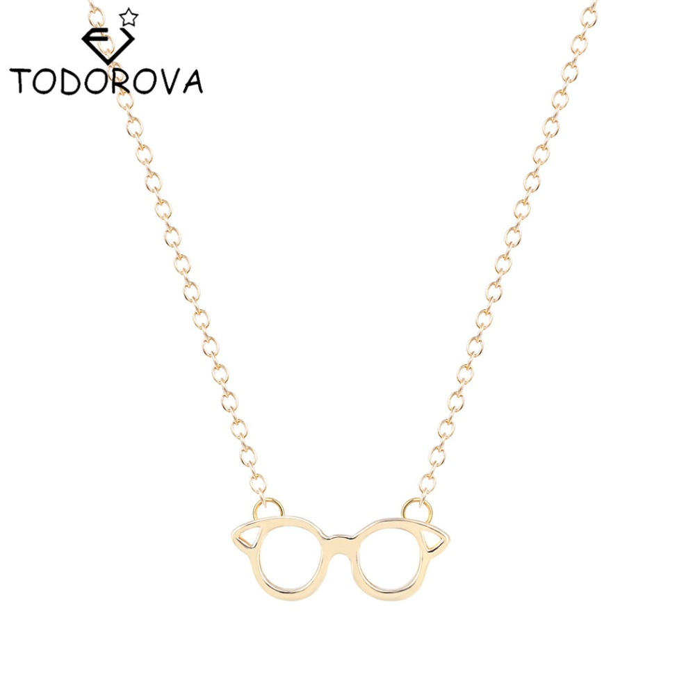Online get cheap personalized christmas picture frames aliexpress todorova personalized silver glasses pendant cute simple office lady glasses necklace christmas gifts for women spectacle frame jeuxipadfo Image collections