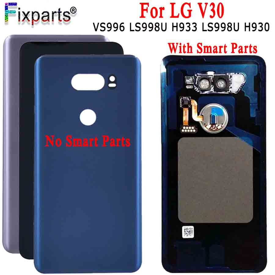 For LG V30 Back Cover Battery Cover Door Rear Glass Housing Case For LG V30 H930DS VS996 Battery Cover+Tools Replacement Parts