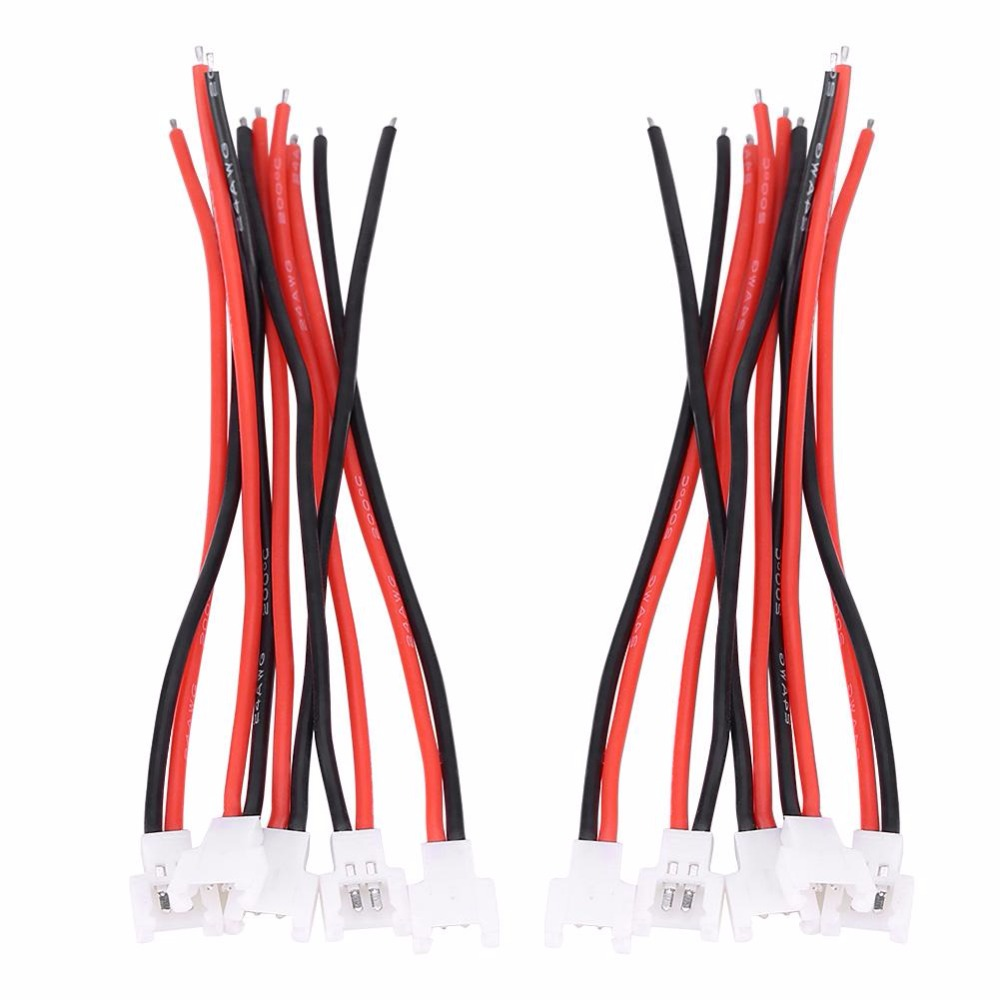 5Pairs / Set 3.7V JST-PH 2.0 Male Female Connector Silicone Cable Wire RC Accessory Connect Lithium Battery For Blade Inductrix 1s lipo battery charging board blade inductrix ultra micro jst ph parallel connect plate mcx mcpx page 7 page 6