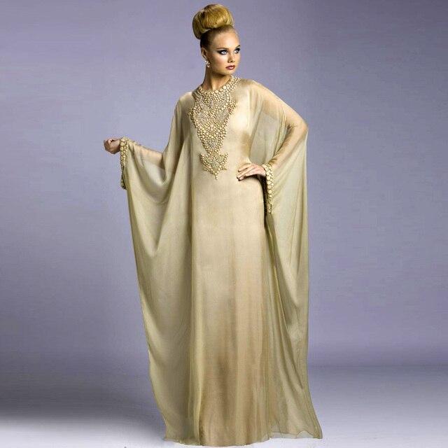 Moderno abito da sera arabo manica lunga marocchino fashion dubai stile  robe kaftan grossisti arabia saudita f67008c64fe