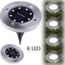 45#1 шт. светодиодный светильник на солнечной батарее для дома, сада, заземления, солнечный свет, открытый путь, садовый настил, садовый настил