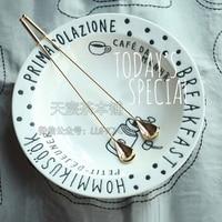 Japan scheduled purchasing hot tableware brand long handle stainless steel coffee tea spoon stir bar gold silver