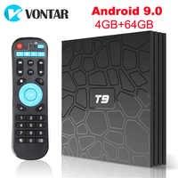 T9 smart Android 9.0 TV BOX 4GB 64GB 32GB Rockchip Quad Core 4k H.265 1080p 2.4G 5G Wifi BT Set Top Box media player 2GB 16GB