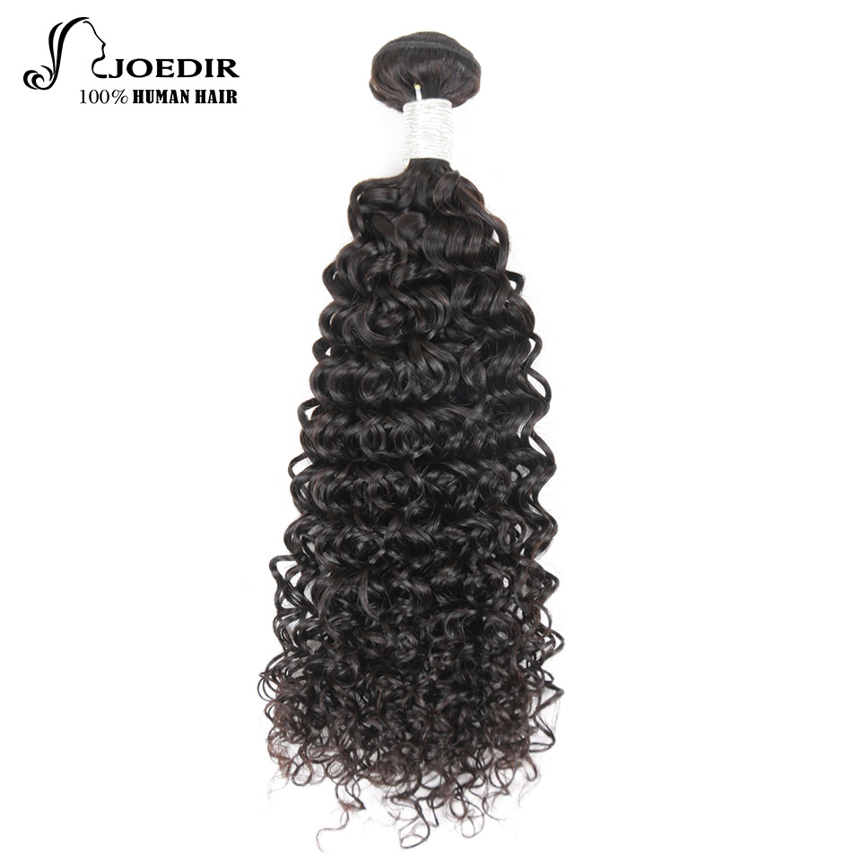 Joedir Pre-colored Curly Human Hair 10-26 Inch 100% Brazilian Remy Hair Weave Can Buy 3 And 4 Bundles Free Shiping