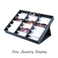 Glasses Storage Display Box Sunglasses Display Case Frame Tray 18pcs