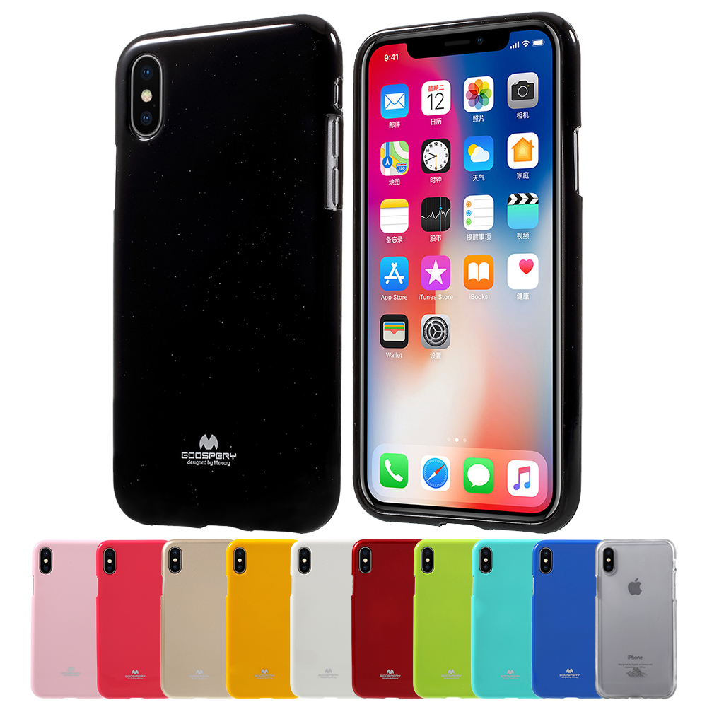 Mercury Goospery Case For Iphone 8 7 Soft Feeling Matte Anti Samsung Galaxy S8 Jelly Black 10 Candy Color Glitter Powder Tpu Gel Capa Funda