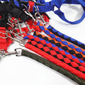 Collars and belts Strong Reflective Dog Leash Adjustable Traction Rope Walking Fluorescence Harness Chest Strap Chain 8 color