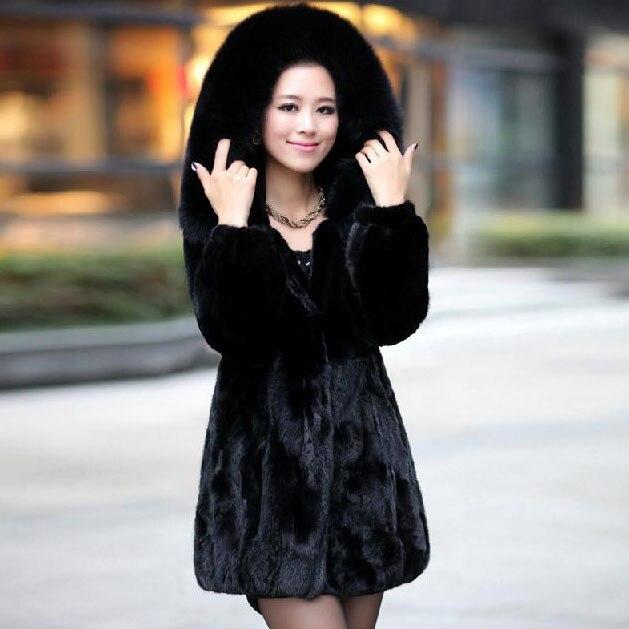 Aliexpress.com : Buy NEW Black Real Mink Otter Fur Coat Fox Hair