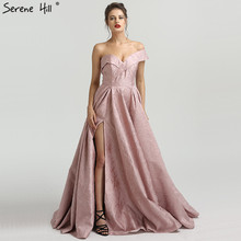 SERENE HILL Sexy Long Pink Evening Dresses 2019