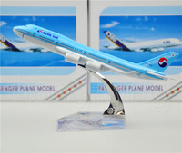 Korean Air Boeing 747 16cm Alloy Metal Model Decoration Airplane Models Child Birthday Gift Plane Models