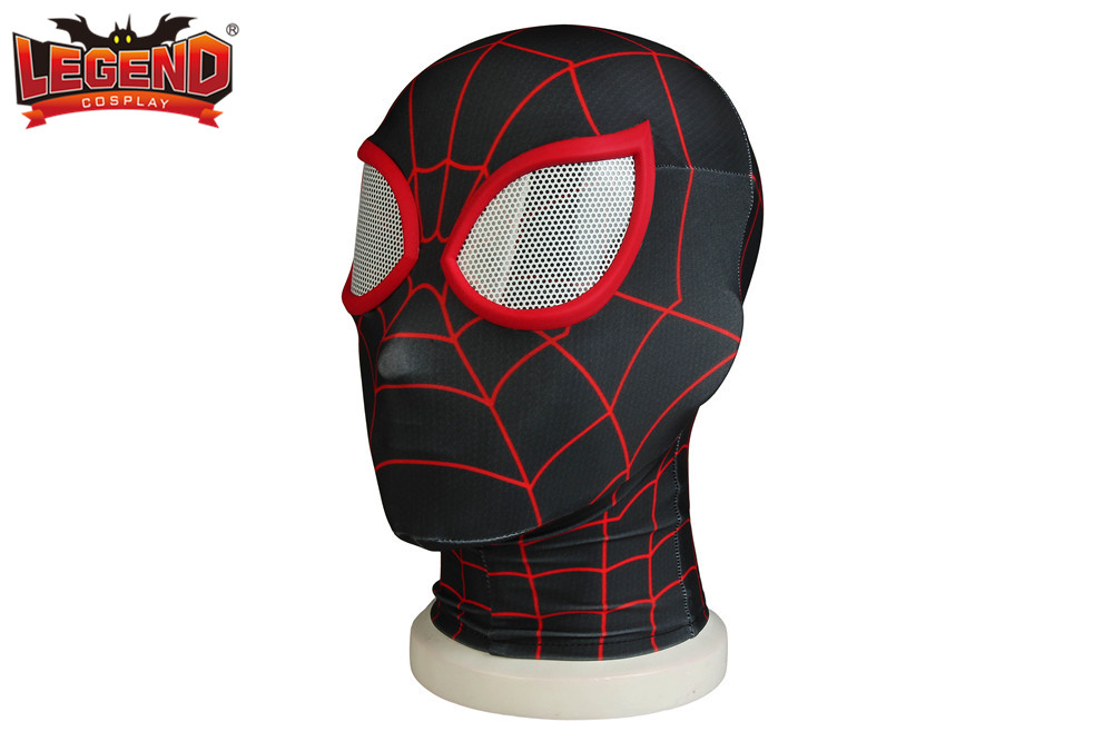 Spider Man: Into the Spider-Verse Miles Morales Mask Cosplay headwear cosplay costume