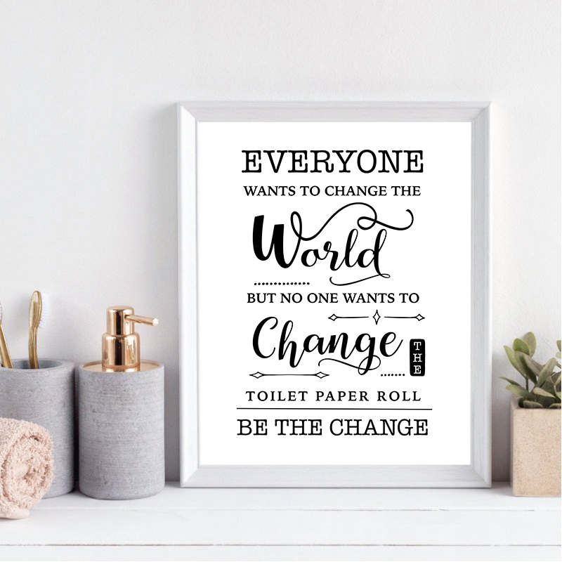 Funny Bathroom Sign Prints Wall Art Canvas Painting Bathroom Quote Black White Wall Picture Poster Bathroom Toilet Wall Decor Painting Calligraphy Aliexpress
